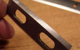 Как правильно отрегулировать, заменить или заточить ножи на электрорубанке