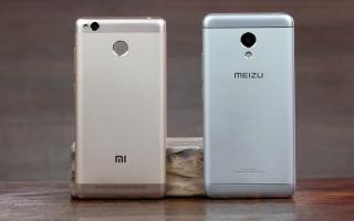 Новинки смартфонов Meizu  и сравнение с Xiaomi