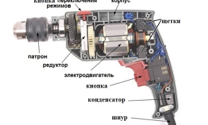 Устройство и принцип работы электрической дрели
