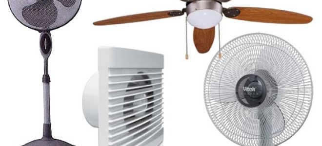 Какие бывают виды вентиляторов: классификация и характеристика