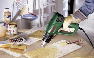 Как правильно использовать строительный фен
