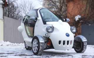В Москве собран трехколесный автомобиль на электроприводе