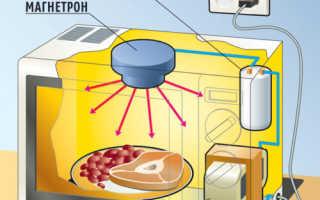 Принцип работы и внутреннее устройство микроволновой печи